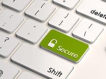 Il degré de sécurité d'ordinateur Images stock