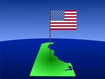 Il Delaware con la bandiera americana Fotografie Stock