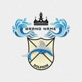 Il delfino badges il logos e le etichette per c'è ne uso Immagini Stock