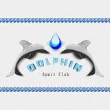 Il delfino badges il logos e le etichette per c'è ne uso Immagini Stock Libere da Diritti
