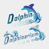 Il delfino badges il logos e le etichette per c'è ne uso Fotografia Stock
