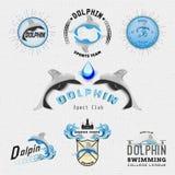 Il delfino badges il logos e le etichette per c'è ne uso Immagine Stock