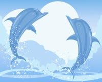 Il delfino salta Royalty Illustrazione gratis