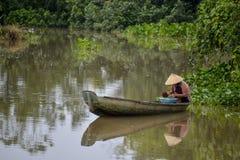 Il delta del Mekong, può Tho, Vietnam Fotografia Stock