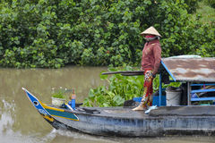 Il delta del Mekong, può Tho, Vietnam Fotografie Stock