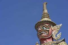 Il demone o il guardiano gigante in Wat Phra Kaew, o il tempio di Immagine Stock Libera da Diritti
