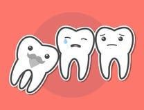 Il dente del giudizio causa il concetto di dolore Immagine Stock