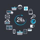 Il deposito del sito Web di Internet apre 24 ore royalty illustrazione gratis