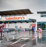 Il deposito di Sainsbury a Manchester, Regno Unito Immagini Stock