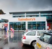 Il deposito di Sainsbury a Manchester, Regno Unito Immagine Stock Libera da Diritti