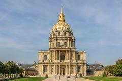 Il DES Invalides della cupola a Parigi fotografia stock libera da diritti
