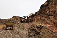 Il deserto Antivari, Parker, Arizona, Stati Uniti Immagini Stock