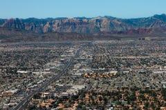 Il deserto e le catene montuose di Las Vegas, NV Fotografie Stock