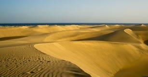 Il deserto in Gran Canaria Fotografia Stock Libera da Diritti