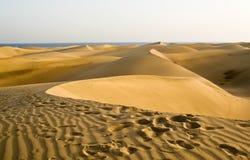 Il deserto in Gran Canaria Fotografie Stock Libere da Diritti
