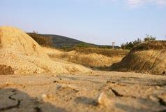 Il deserto sta venendo. immagine stock