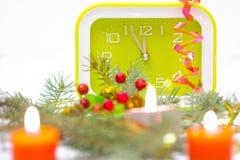 Il desiderio del nuovo anno alla mezzanotte Immagine Stock