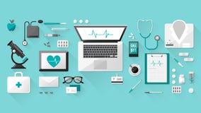 Il desktop di medico Immagine Stock