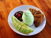 Il dessert del yogurt del melone Immagini Stock