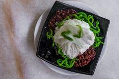 Il dessert freddo tradizionale di Singapore ha chiamato Chendol vista superiore Immagini Stock Libere da Diritti