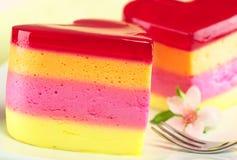 Il dessert peruviano ha chiamato Torta Helada Fotografia Stock
