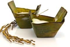 Il dessert tailandese, dolciumi asiatici ha prodotto la farina di riso appiccicosa Fotografia Stock