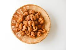 Il dessert tailandese ha chiamato il krong-krang-krob o la pasticceria croccante Immagine Stock