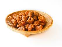 Il dessert tailandese ha chiamato il krong-krang-krob o la pasticceria croccante Immagini Stock