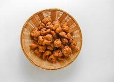 Il dessert tailandese ha chiamato il krong-krang-krob o la pasticceria croccante Fotografia Stock