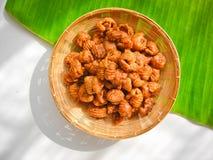 Il dessert tailandese ha chiamato il krong-krang-krob o la pasticceria croccante Fotografia Stock Libera da Diritti