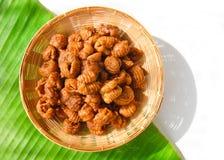 Il dessert tailandese ha chiamato il krong-krang-krob o la pasticceria croccante Immagini Stock Libere da Diritti