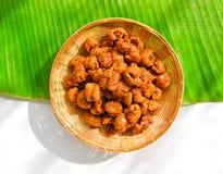 Il dessert tailandese ha chiamato il krong-krang-krob o la pasticceria croccante Fotografie Stock Libere da Diritti