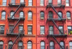 Il dettaglio degli edifici di New York Immagini Stock Libere da Diritti