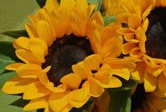Il dettaglio del girasole ha strutturato l'arte floreale gialla di stile di impressionismo Fotografia Stock Libera da Diritti