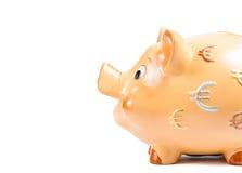 Il dettaglio del porcellino salvadanaio, concetto per l'affare e risparmia i soldi Immagine Stock Libera da Diritti