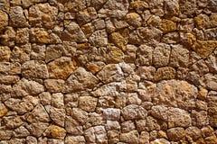 Il dettaglio della parete di muratura di Ibiza del Mediterraneo mette il bastone tra le ruote Immagine Stock Libera da Diritti