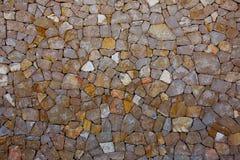 Il dettaglio della parete di muratura di Ibiza del Mediterraneo mette il bastone tra le ruote Fotografia Stock