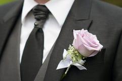 Il dettaglio dello sposo è aumentato Immagine Stock Libera da Diritti