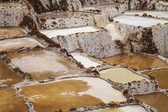 Il dettaglio di sale accumula, Maras, Perù, Sudamerica Fotografia Stock Libera da Diritti