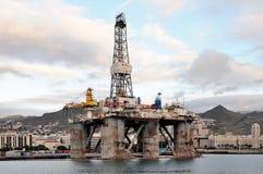 Il dettaglio di vecchio impianto offshore, in Santa Cruz de Tenerife, canarino è Fotografia Stock Libera da Diritti