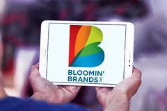 Il ` di Bloomin marca a caldo il logo della società Immagini Stock