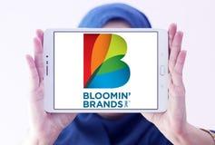Il ` di Bloomin marca a caldo il logo della società Immagine Stock