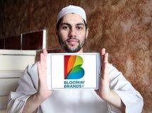 Il ` di Bloomin marca a caldo il logo della società Fotografia Stock