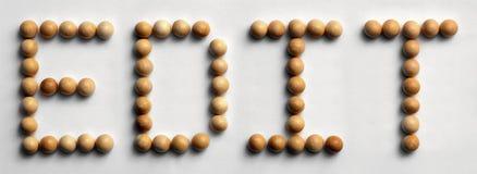 Il ` di legno di arte di parola della puntina pubblica il ` Fotografia Stock Libera da Diritti