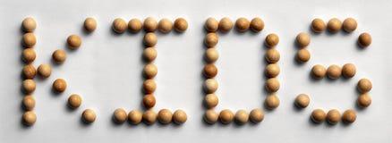 Il ` di legno di arte di parola della puntina scherza il ` Immagine Stock