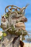 Il ` di quattro stagioni è una serie di quattro teste giganti, ciascuna della scultura che rappresenta una stagione dell'anno Art Fotografia Stock