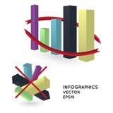 Il diagramma/può essere usato per il infographics/ Illustrazione Vettoriale