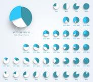 Il diagramma a torta di vettore 3d di Infographic mette la C illustrazione di stock