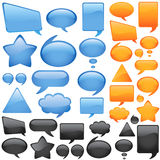 Il dialogo bolle vettore Fotografie Stock Libere da Diritti