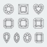 Il diamante di vettore taglia le icone royalty illustrazione gratis